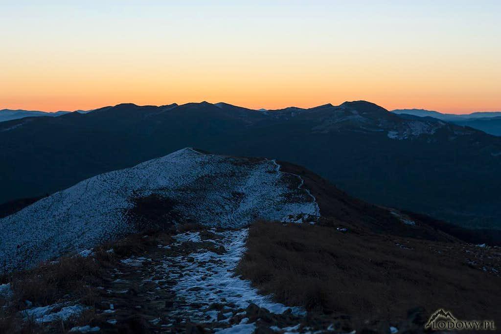 Mt.Tarnica group before sunrise