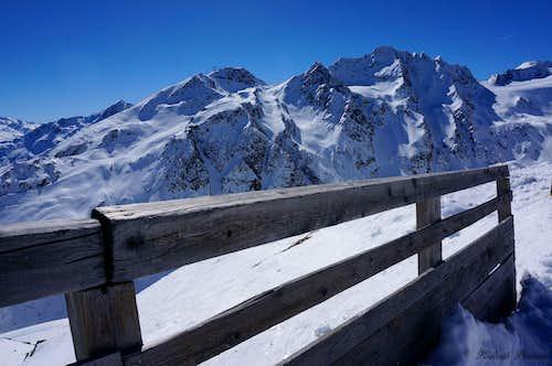 The North Face of Gaislachkogel (3050m) and Aussere Schwarze Schneid (3255m)