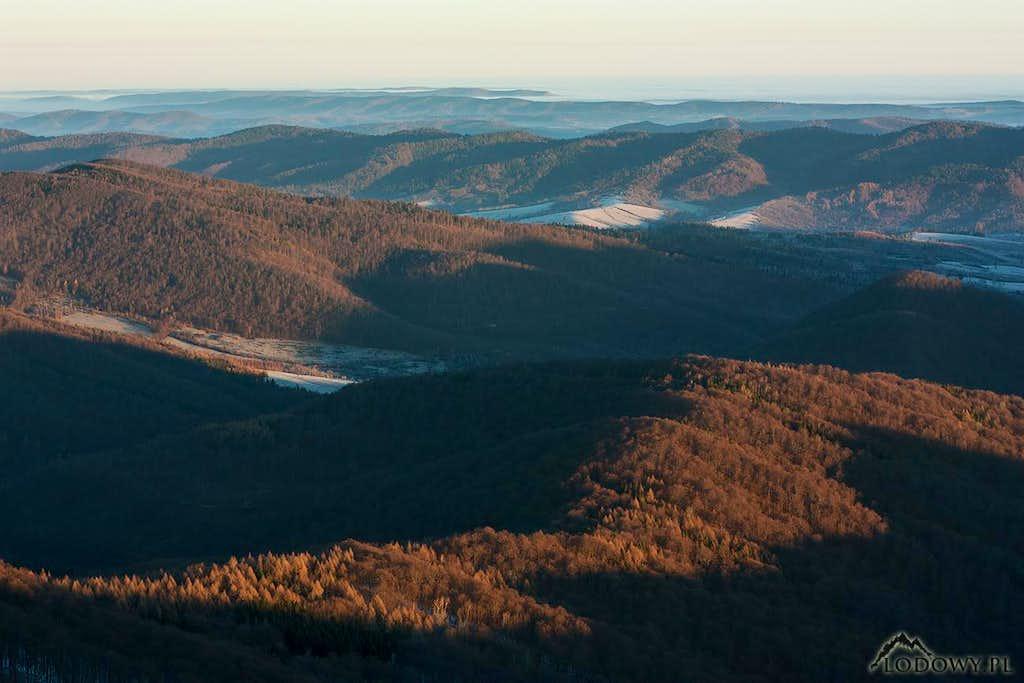 Northern Bieszczady at sunrise