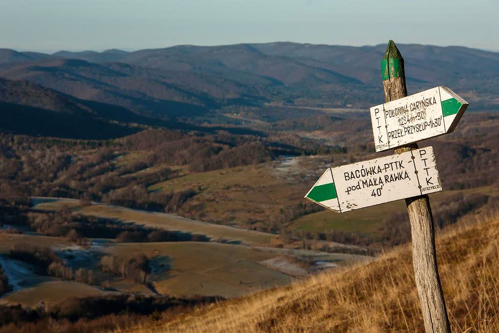 Polonina Carynska trail