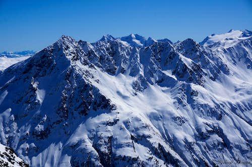 Hinterer Seelenkogel (11391 ft / 3472 m) and co