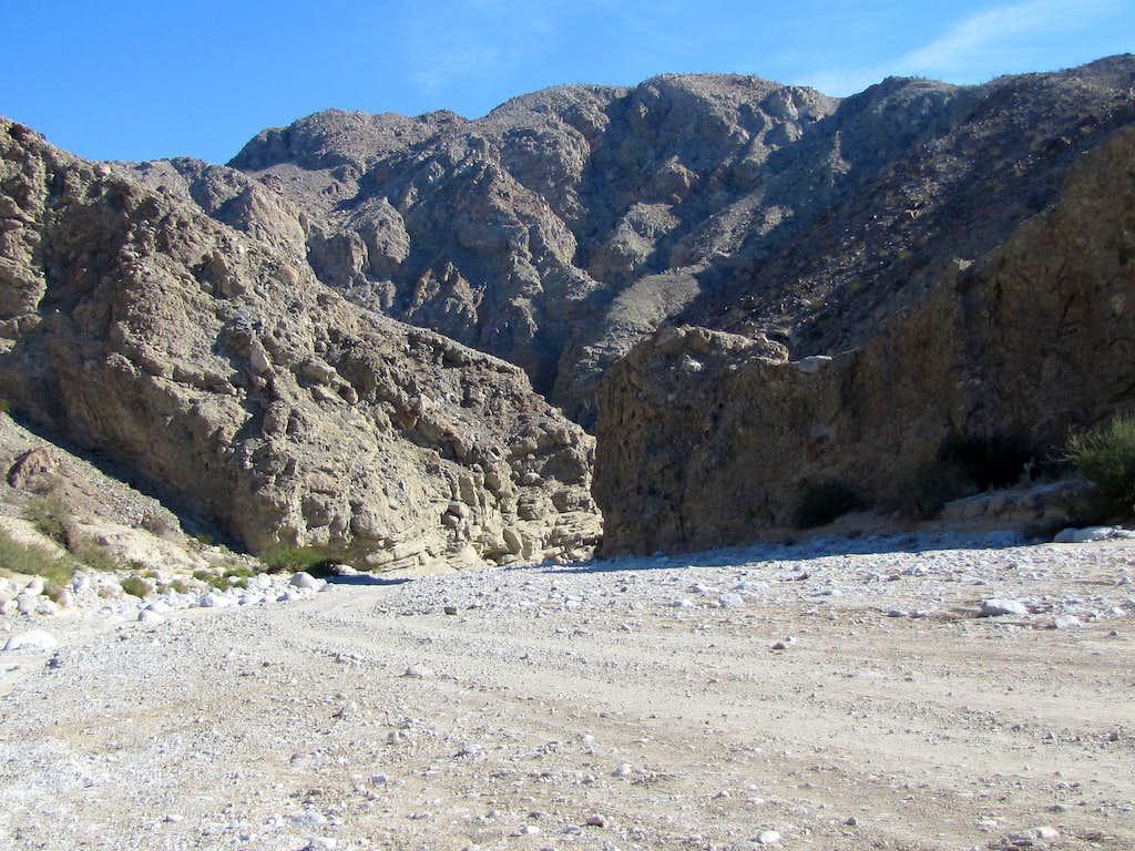 Where Split Mountain Gorge opens up