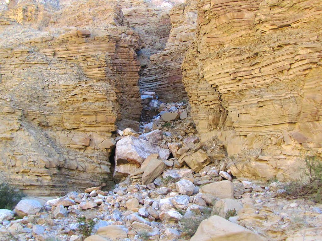 Wall of Split Mountain Gorge