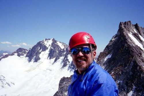Summit photo of my partner Ed...
