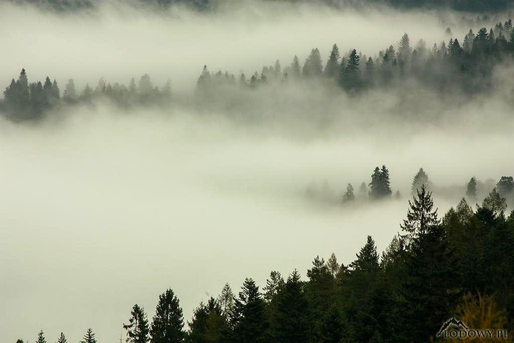 Spisska Magura in mist