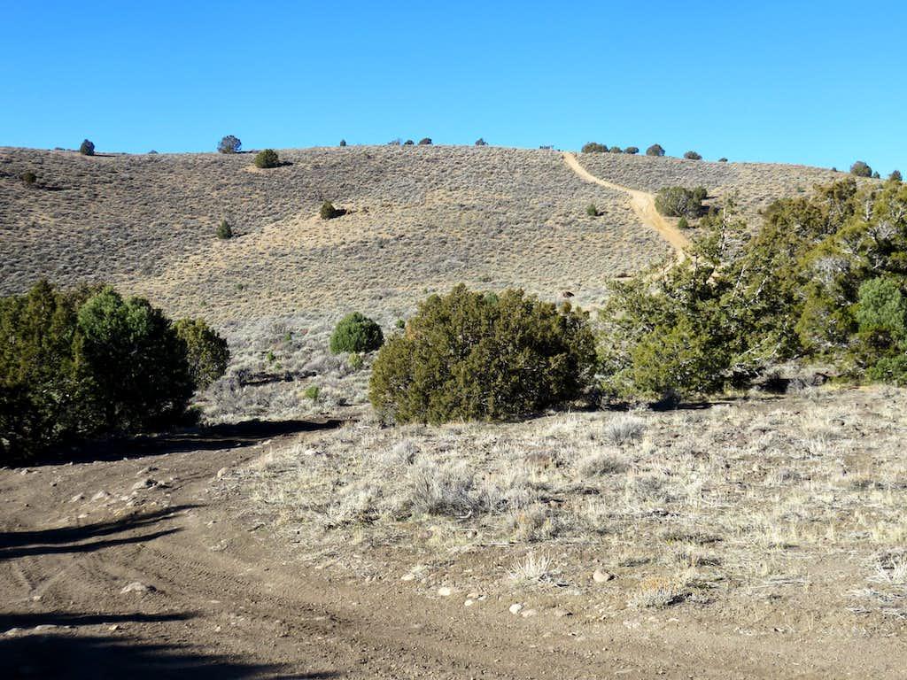 Back side of Jumbo Grade Hill