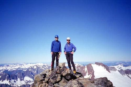 On the summit of Mount Buckner