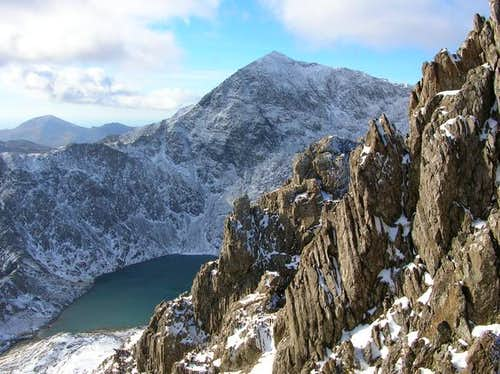 Snowdon from Crib Goch, Feb...