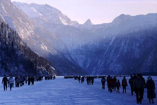 A seldom event: Koenigssee is...