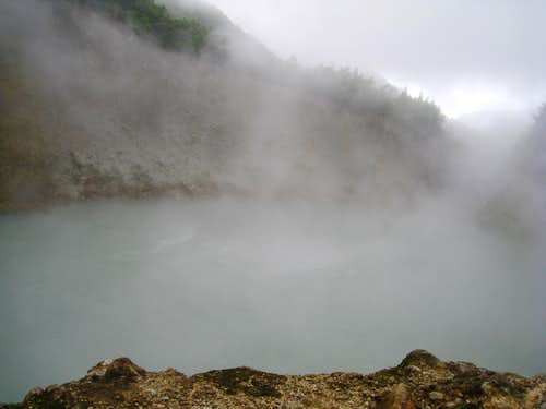 Boiling Lake in a breeze