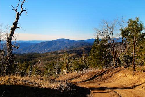 Descend High Glade near summit