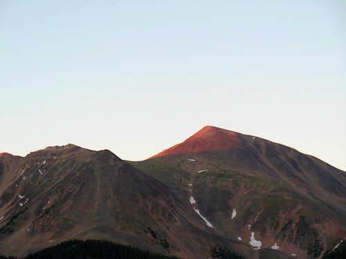 First rays hitting Garfield Mountain
