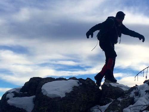 Rock Hopping Alps Mountain