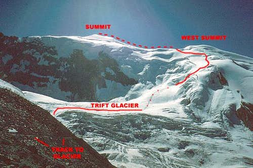 Trift Glacier to Triftgrat Route
