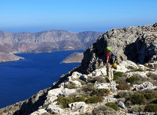 Summit view over Kalymnos