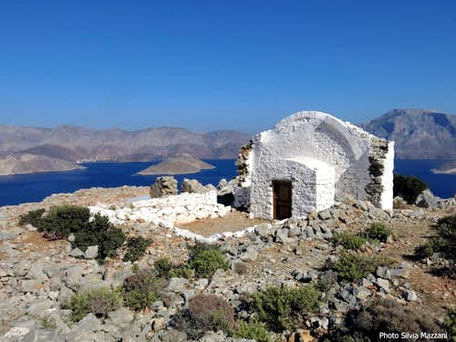 Isle of Kalymnos seen from Aghios Konstantinos chapel