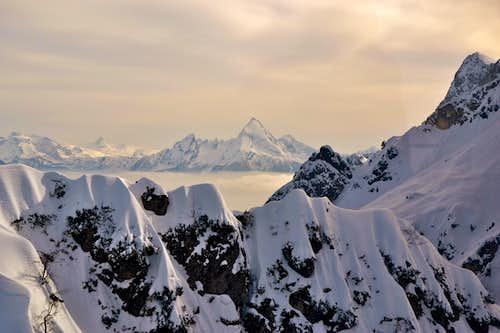 View over the ridge to Watzmann