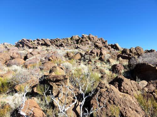 Rocks on south side of ridge