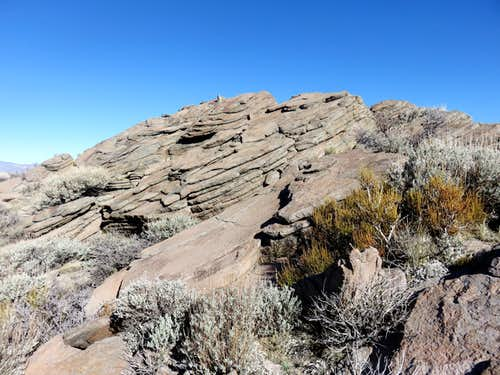 View of slabs that make up the true summit