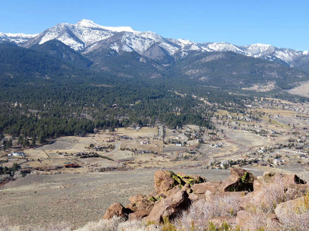 Mount Rose 10,776' and the northern Carson Range from the summit ridge
