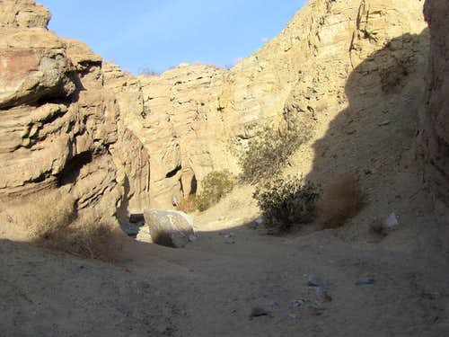 Where the road crosses the canyon