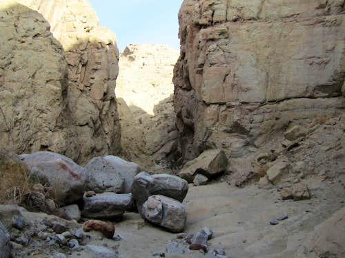 Toward the slot canyon