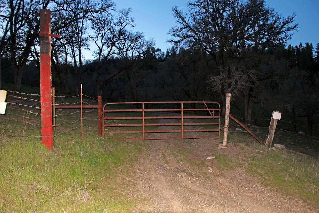 trailhead gate on Big canyon Road.