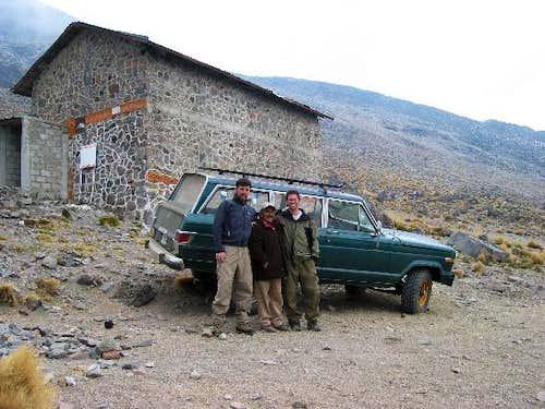 The hut and Gerardo of Hotel...