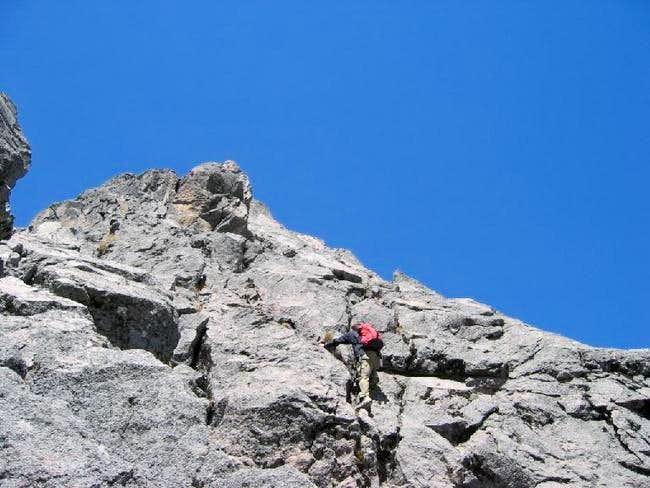 Branndon doing the ridge.