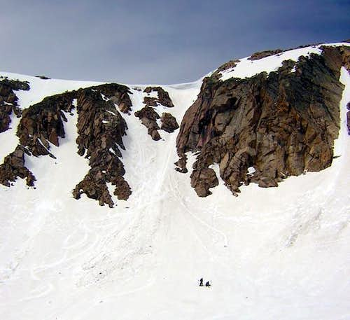 The Desdemona Couloir on Mt...