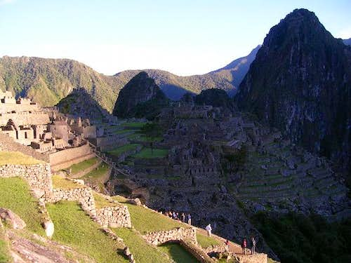 Sun Rising on Machu Pichu and...