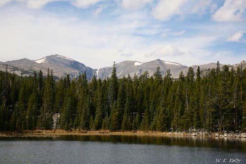 Bighorn Peak and Darton Peak from Sherd Lake