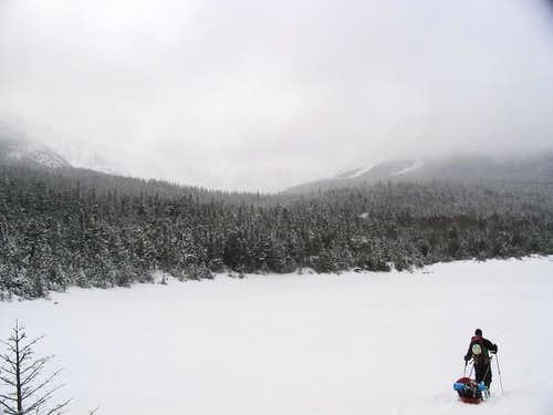 Ski to the Chimney Pond