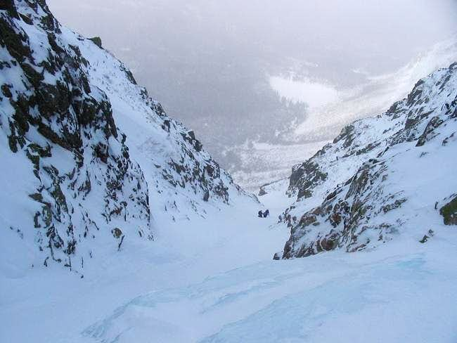 Snow/Ice gully to the top