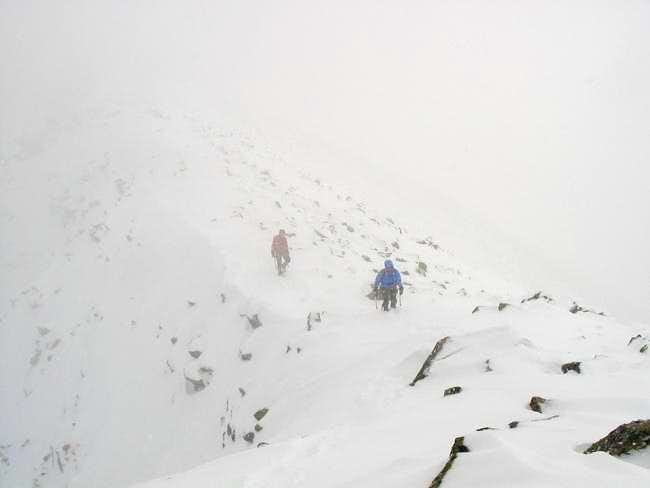 Secondary ridge to Baxter Peak