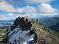 Kidney Lake crags from near summit of East Camas peak