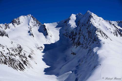 Hochfirst (3405m) and Liebener Spitze (3400m)