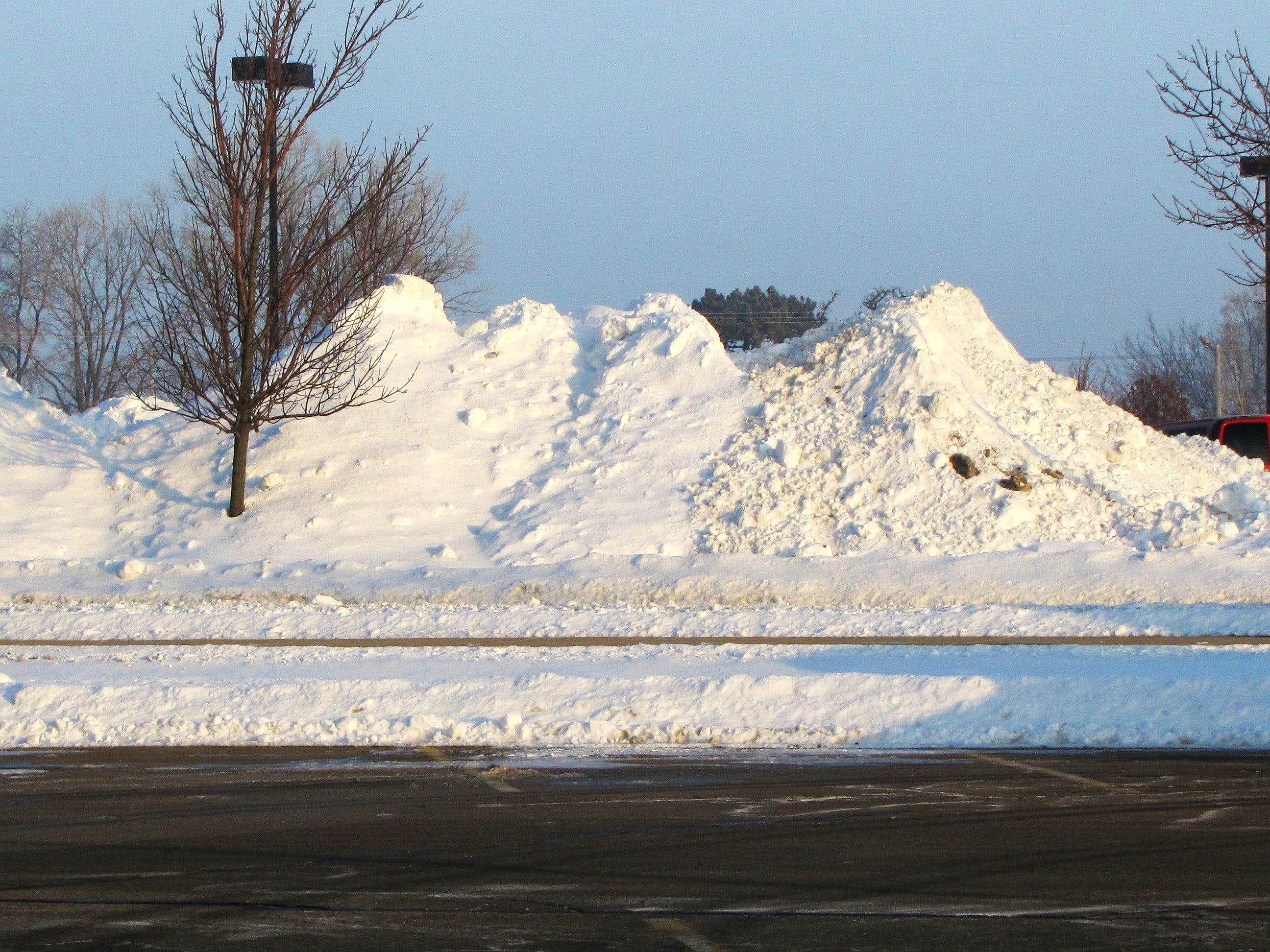 Parking Lot Mountains of Snow
