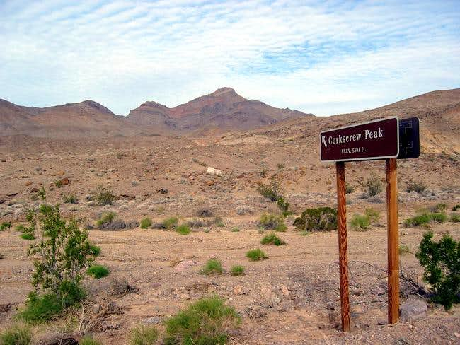 Corkscrew Peak from the sign...