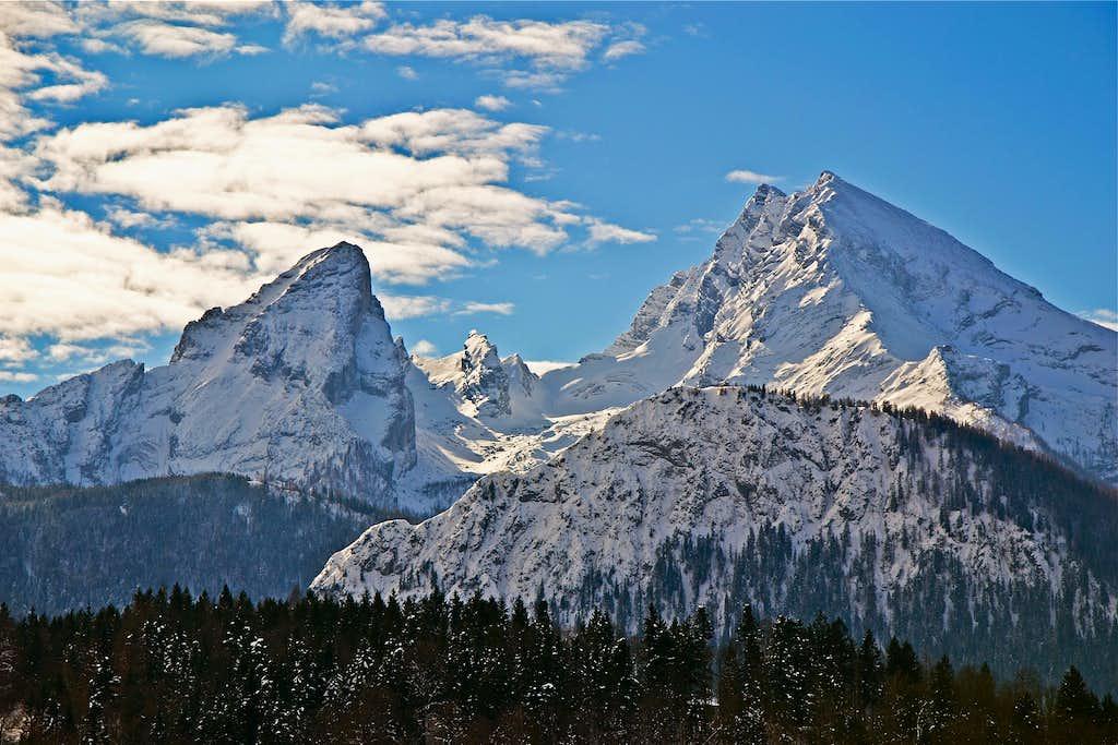 The Watzmann on a day of winter föhn