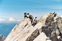 Traversing south ridge of Mt....