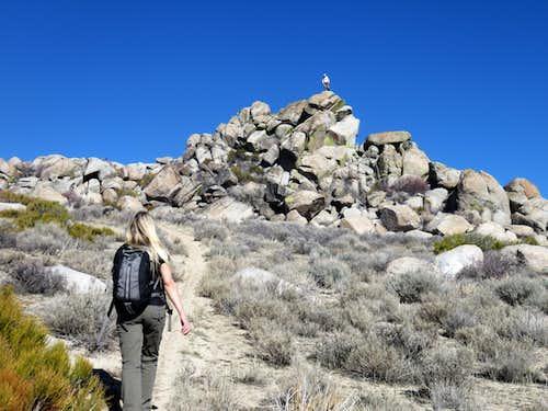 Rocky area on the east ridge