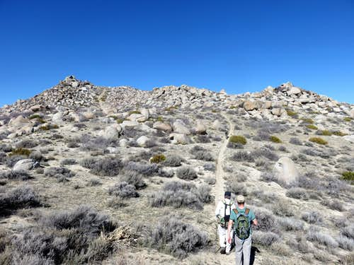 Heading up the trail towards the top of the east ridge