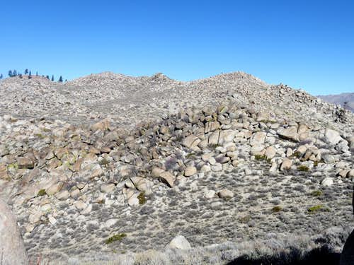 Looking to the top of the east ridge
