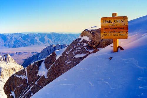 Trail Crest, 13,600