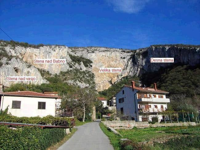 The climbing area Osp.