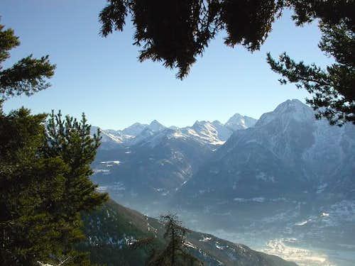 Da sinistra : il mont Glacier...