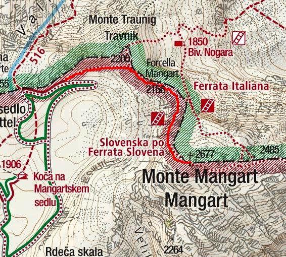 Mangart map