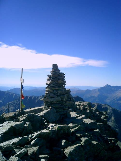 Corborant summit cairn