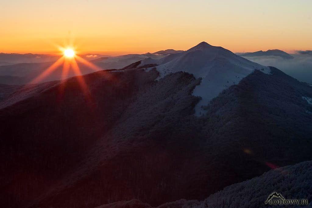 Sunrise over Mount Carynska